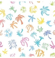 Palms Travel Pattern vector image vector image