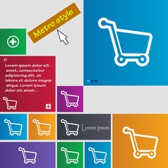 Shopping cart icon sign buttons Modern interface vector image vector image