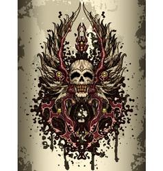 skull crest vector image