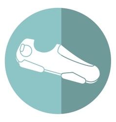 sneaker shoe run fitness gym shadow vector image