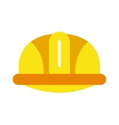 Yellow construction helmet safety industry vector image vector image