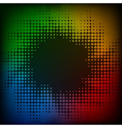 abstract colorful halftone background vector image