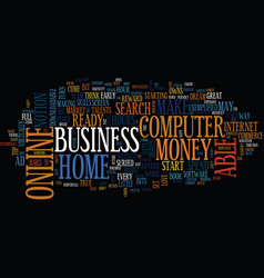 are you ready to start an online home business vector image vector image