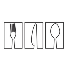 figure symbol cutlery food icon vector image