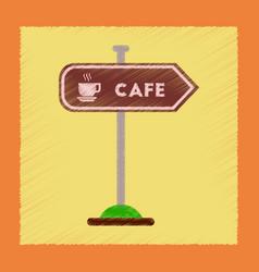 flat shading style icon cafe sign vector image