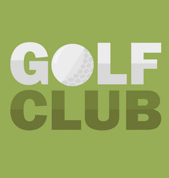 golf club logo design template in flat style vector image