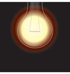 light bulb is lighting vector image
