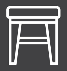 stool line icon furniture and interior vector image vector image