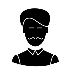 clerk with moustache icon vector image