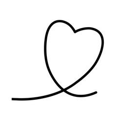 heart romantic lovely symbol line vector image