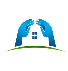 House Hands vector image