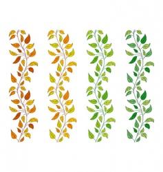 vine borders vector image