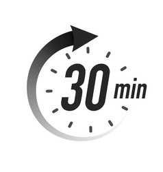 30 timer minutes symbol black style vector