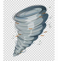 A cyclone on transparent background vector