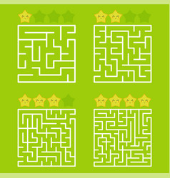 a square labyrinth with an entrance and an exit a vector image