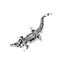 Abstract crocodile pointillism style vector