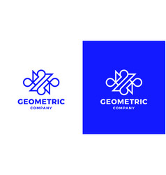 Abstract logotype template positive and negative vector