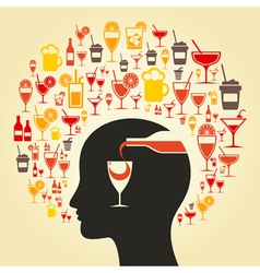 Alcohol a head vector