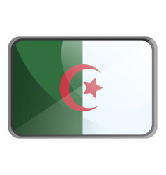 algeria flag on whte background vector image