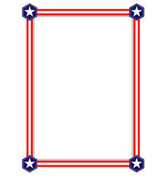 american flag stars symbols border vector image