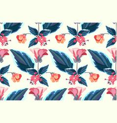 Art floral seamless pattern vector