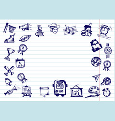Back to school hand drawn school icons and vector