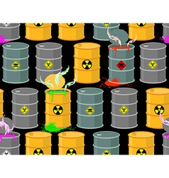Biohazard seamless pattern Open barrels of vector image