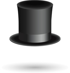 Black gentleman hat cylinder with ribbon Luxury vector