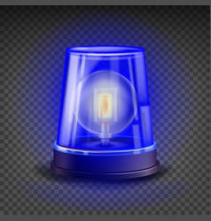 Blue flasher siren 3d realistic object vector