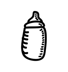 bottle baby drawing isolated icon design vector image