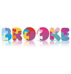 Brooke written with alphabet puzzle vector