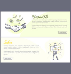 business and idea set of web vector image