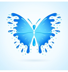 butterfly water aqua blue splash drops vector image