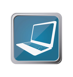 button with laptop with background blue vector image