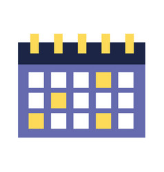 calendar reminder date on white background vector image
