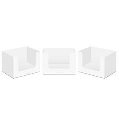 Cardboard display boxes mockups isolated vector