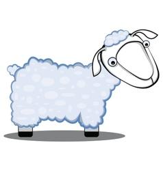 children cartoon of a sheep vector image
