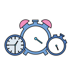 clock time stopwatch alarm vector image