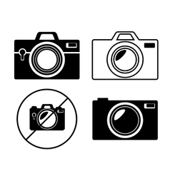 collection camera photo monochrome design graphic vector image