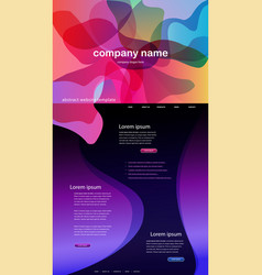 Colorful abstract website template background vector