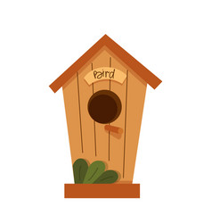 colorful birdhouses hand drawn isolated on vector image