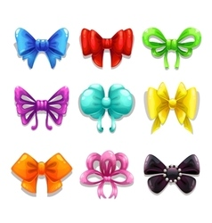 Colorful bows set vector image