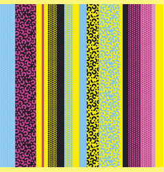 Colorful vivid cool stripes seamless pattern vector