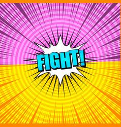 Comic versus light background vector