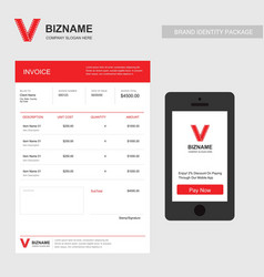 Company invoice design with video logo and vector