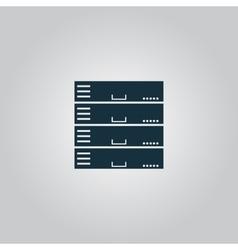 Computer Server icon flat design vector