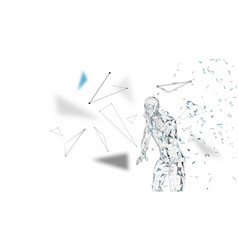 Conceptual abstract man shouting to someone vector