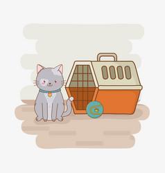 Cute little kitty mascot character vector