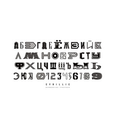 decorative cyrillic font different styles vector image