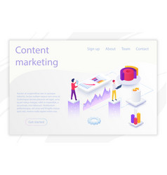 design business website about content vector image